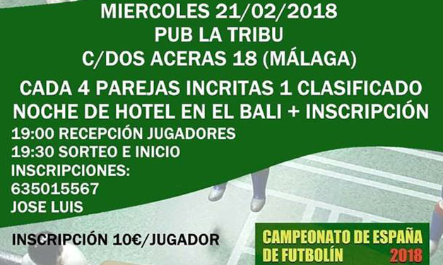 TORNEO TECNO PUB LA TRIBU (Málaga 21/02/2018)