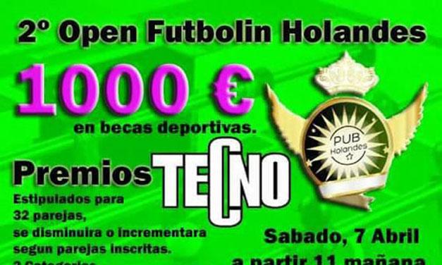 2º OPEN FUTBOLÍN HOLANDÉS (07/04/18, Ontur, Albacete)