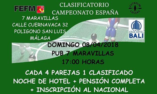 CLASIFICATORIO CAMPEONATO DE ESPAÑA (08/04/18, Málaga)