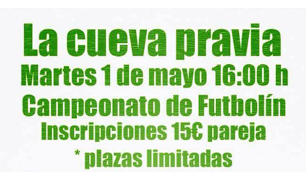 CAMPEONATO DE FUTBOLÍN (01/05/18, PRAVIA)