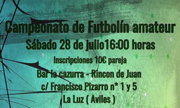 CAMPEONATO DE FUTBOLÍN AMATEUR (28/07/18 – AVILÉS)