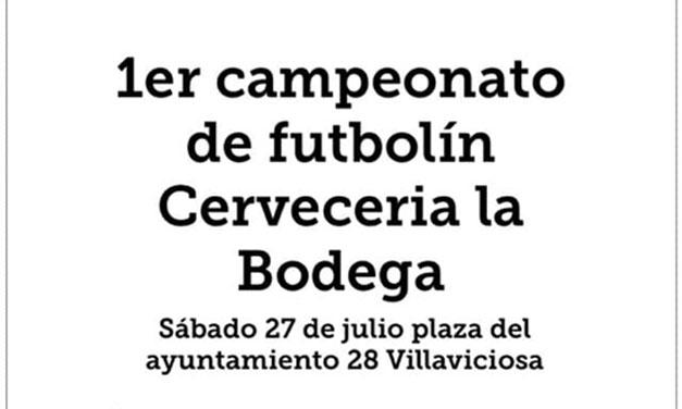 CAMPEONATO DE FUTBOLÍN (27/07/19 – VILLAVICIOSA)